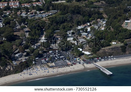 Paradise Cove Restaurant And Mobile Home Trailer Park In Malibu