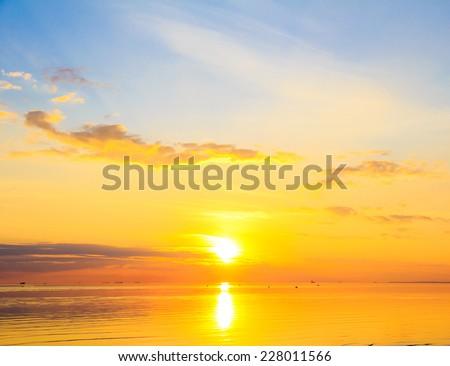Paradise Horizon Dusk  - stock photo