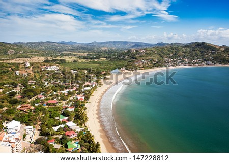 Paradise on earth Pacific ocean beach - stock photo