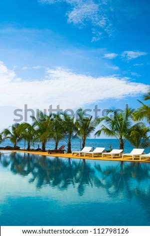 Paradise Pool Swimming Space - stock photo