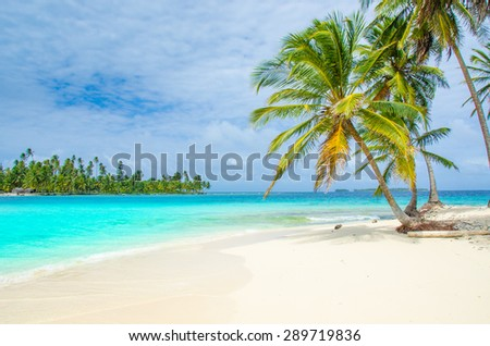 Paradise Tropical Island with white beach