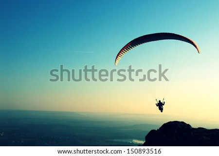 paragliding - stock photo
