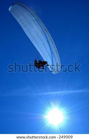 Paragliding in La Jolla - stock photo