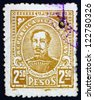 PARAGUAY - CIRCA 1927: a stamp printed in Paraguay shows Fulgencio Yegros, First Head of State of Independent Paraguay, circa 1927 - stock photo
