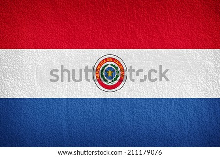 Paraguay Flag painted on grunge wall  - stock photo