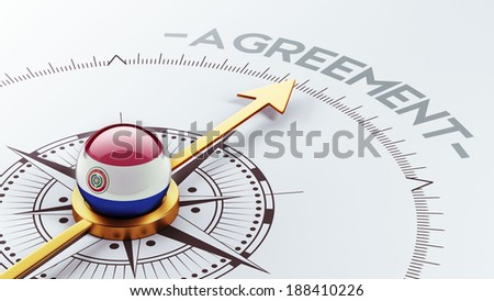 Paraguay High Resolution Agreement Concept - stock photo