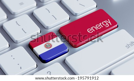 Paraguay High Resolution Energy Concept - stock photo