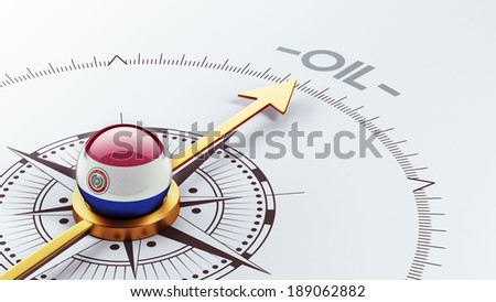 Paraguay High Resolution Oil Concept - stock photo