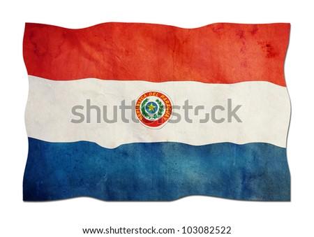 Paraguayan Flag made of Paper - stock photo
