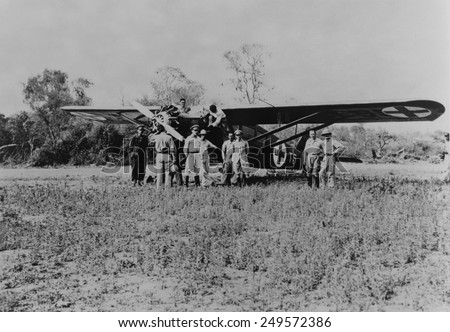 Paraguayan plane for evacuating the badly wounded to Asuncion hospitals in 1934. An estimated 100,000 were killed in the Chaco war between Bolivia and Paraguay, from 1932-35. - stock photo