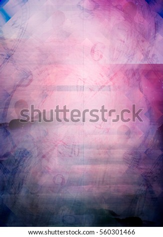 parallel universe abstract conceptual background with time vortex and silhouette of man, mixed media