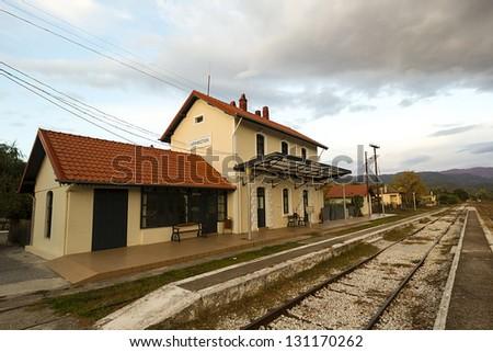 Paranesti's railway station - stock photo