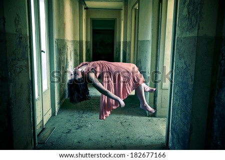 paranormal activity - stock photo