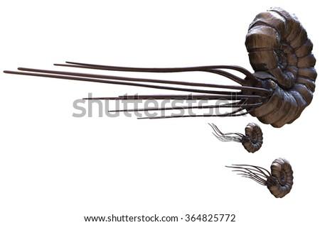 Parapuzosia is an extinct ammonite. - stock photo