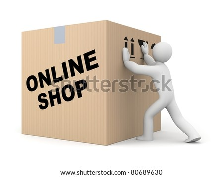 Parcel delivery - stock photo