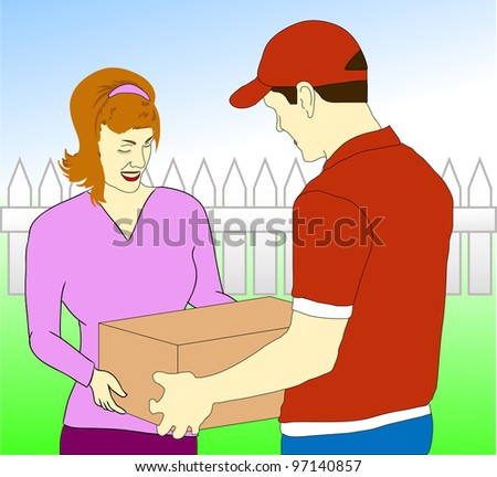 Parcel Delivery Service - stock photo