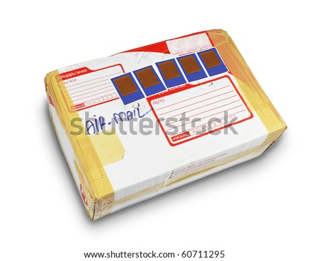 parcel from far away - stock photo
