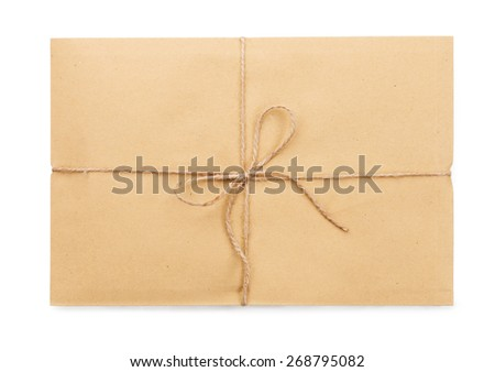 Parcel post on a white background isolated - stock photo