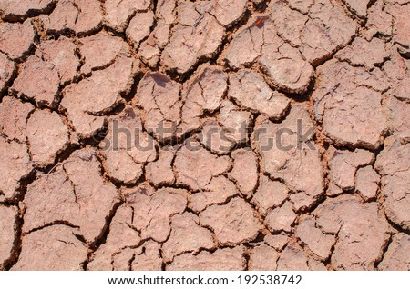 Parched Earth - the effect of Global Warming or climate change - stock photo