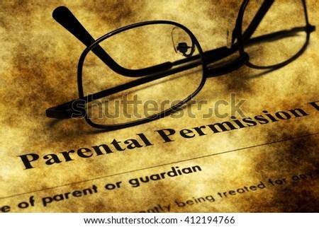 Parental permission form grunge concept - stock photo