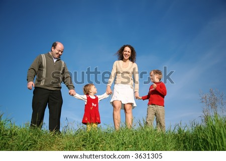 parents child standing