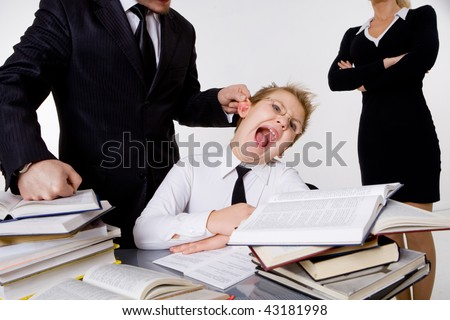 Parents forcing sin to do homework