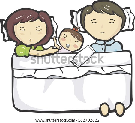 Parents sleeping with daughter