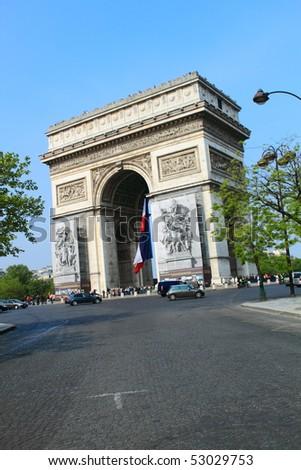 Paris - Arc the Triumph - stock photo
