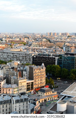 PARIS - AUGUST 09, 2015: Paris downtown. Paris, aka City of Love, is a popular travel destination and a major city in Europe