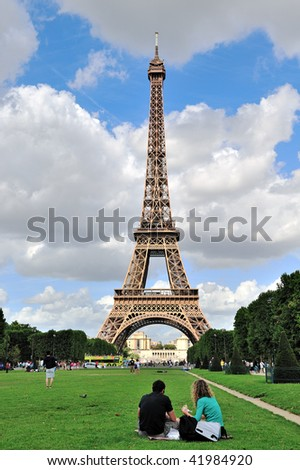 PARIS - AUGUST 21: The majestic Eiffel Tower is celebrating its 120th Anniversary as the world's most visited paid monument on August 21, 2009 in Paris, France.