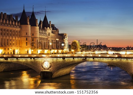 Paris by night, France - stock photo