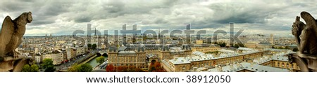 Paris by Notredame - stock photo