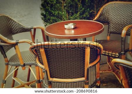 Paris cafe - stock photo