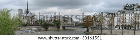 paris cityscape - stock photo