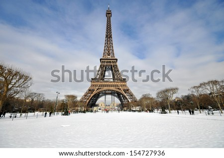 Paris during festive season - stock photo