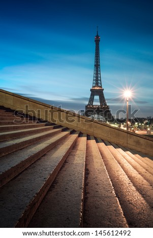 Paris Eiffel tower - stock photo