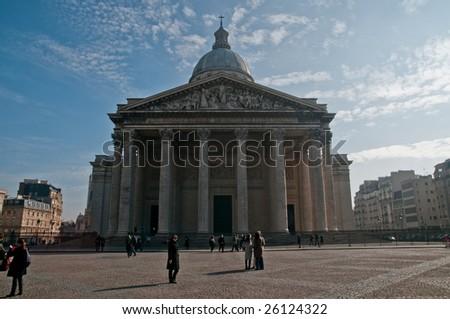 PARIS - FEBRUARY 28: The Pantheon in Paris on February 28, 2009 in Paris. - stock photo