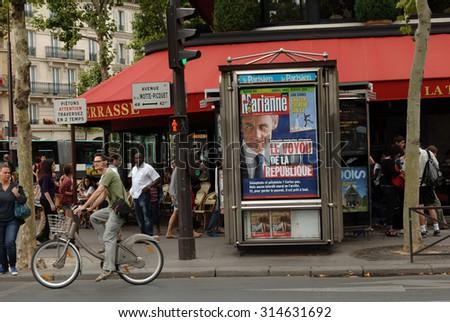 PARIS, FRANCE - AUGUST 10, 2010: Avenue de la Motte-Picquet in Paris, France, Aug.10, 2010. - stock photo