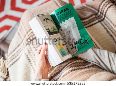 ikea catalog stock images royalty free images vectors shutterstock. Black Bedroom Furniture Sets. Home Design Ideas