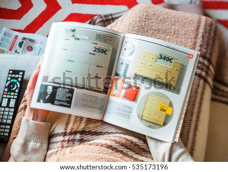ikea catalog stock images royalty free images vectors. Black Bedroom Furniture Sets. Home Design Ideas