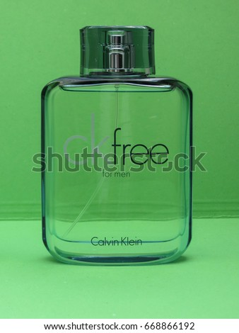 PARIS, FRANCE - CIRCA MAY 2017: Calvin Klein free for men eau de toilette, one of the evergreen bestselling perfumes worldwide