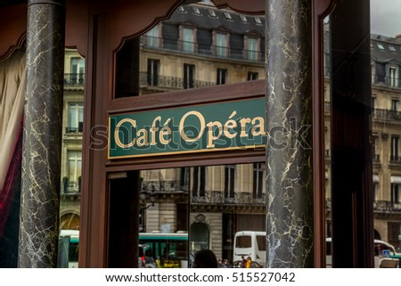 Paris, France - July 24.2015 - cafe in Paris