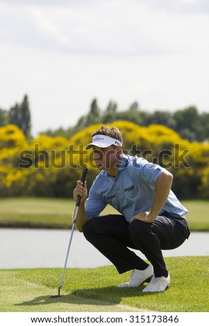 PARIS FRANCE, 04 JULY 2009. Lee Westwood (GBR) competing in the 3rd round of the PGA European Tour Open de France golf tournament. - stock photo