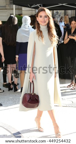 PARIS, FRANCE - JULY 06: Miroslava Duma attends the Valentino Haute Couture Fall/Winter 2016-2017 show as part of Paris Fashion Week. Outside arrivals.