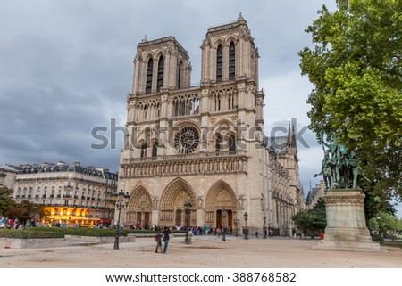 Paris, France, July 26.2015 - Notre Dame Cathedral in Paris