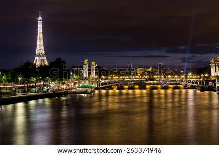 Paris, France-July 11, Paris by night, July 11.2014 in Paris
