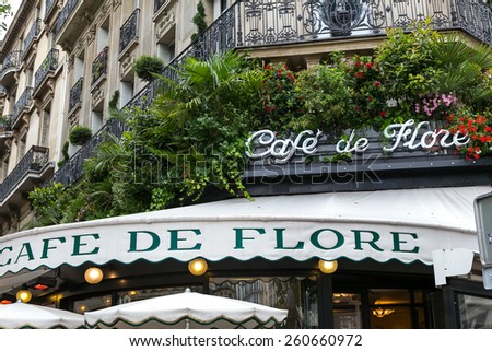 Paris, France-July 12, Paris cafe, July 12.2014 in Paris - stock photo