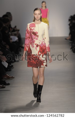 PARIS, FRANCE - MARCH 07: A model walks the runway at the Giambattista Valli fashion show during Paris Fashion Week on March 7, 2011 in Paris, France.