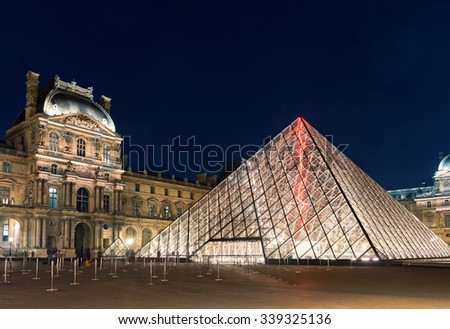 Paris, France - MAY 22, 2015: The Louvre Museum is one of the world's largest museums and a historic monument. A central landmark of Paris, France.