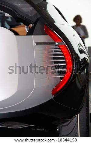 PARIS, FRANCE - OCTOBER 02: Paris Motor Show   on October 02, 2008, shoiwing Renault Ondelios Concept, rear light detail. - stock photo